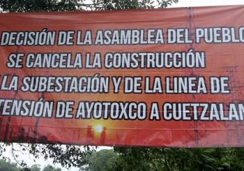 Indigenous people 'close down' a Federal Electricity Commission (CFE) substation in Cuetzalan