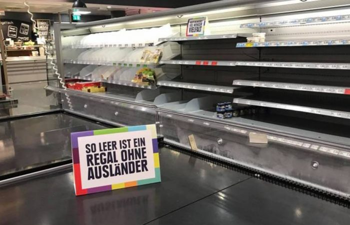 When foreign foods are removed from supermarket shelves, what's left?