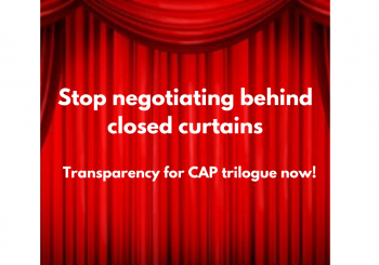 Letter to the EU Commission on Transparency of CAP Trilogues process