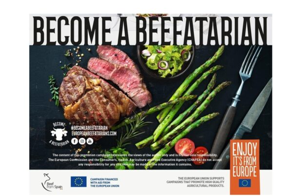 """Become a Beefatarian"": the absurd EU campaign calling for an increase in meat consumption."